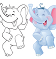 Funny cartoon elephant vector image vector image