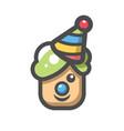 funny clown head icon cartoon vector image