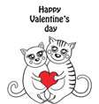 funny composition with two cats in love vector image
