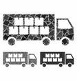 Goods transportation truck mosaic icon raggy