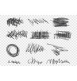 grunge scribbles set vector image vector image