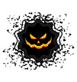 halloween sale sticker vector image