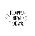happy new year love quote logo greeting card vector image vector image