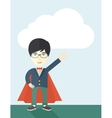 Hero chinese man pointing up high to the sky vector image vector image