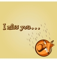 I MISS YOU FOX vector image
