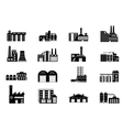 Industrial and manufacturing factory building vector image vector image