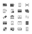 internet banking flat icons vector image vector image