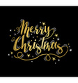 Merry christmas gold greeting card with stars vector image
