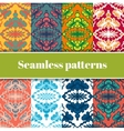 Mosaic Seamless Patterns Set vector image