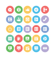 Multimedia Colored Icons 1 vector image vector image