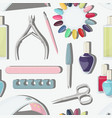 nail salon set pattern vector image