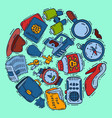private detective spy work gadgets magnifier vector image vector image