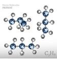 propane molecule image vector image