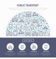 public transport concept in half circle vector image vector image