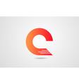 q orange alphabet letter logo icon design vector image vector image
