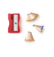 red pencil sharpener template 3d realistic vector image vector image