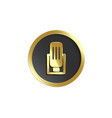 retro microphone golden emblem in frame realistic vector image