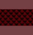 royal red vintage leather upholstery leather vector image vector image