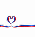 russian flag heart-shaped ribbon vector image