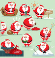 santa claus in traditional christmas holiday vector image