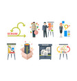 scrum system business processes time management vector image