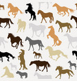 seamless background with horse silhouettes vector image