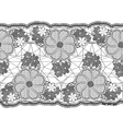 Seamless lace tape Grid and floral elements vector image vector image