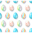 seamless pattern from eggs isolated on white vector image vector image