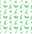 Seamless watercolor pattern with pears on the vector image vector image