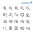 search line icons vector image