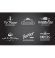 set barber shop elements and shave shop icons vector image vector image
