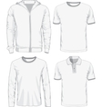 set male shirts vector image