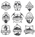 set of vintage grunge labels mountain adventure vector image vector image
