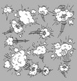 speed cloud comic cartoon fast motion clouds vector image