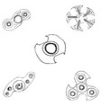 spinners of different shapes vector image vector image