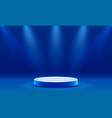stage podium with lighting vector image vector image