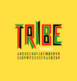 tribal style font design vector image vector image