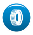 vehicle tire icon blue vector image