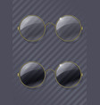 vintage round glasses vector image vector image