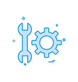 wrench gear setting icon design vector image
