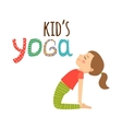 Yoga kids isolated logo design