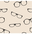 Hipster glasses seamless pattern or background vector image