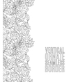 Card with seamless floral border Doodle style vector image