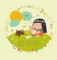 beautiful young mother hugging little toddler vector image