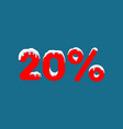 20 off a discount ten percent numbers in the vector image