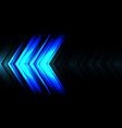 abstract blue light line arrow speed direction vector image vector image