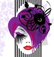 abstract purple-haired dame vector image vector image