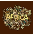 Africa hand lettering and doodles elements vector image