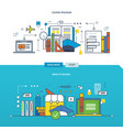 back to school programs training learning vector image vector image