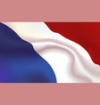 background netherlands flag in folds tricolour vector image vector image